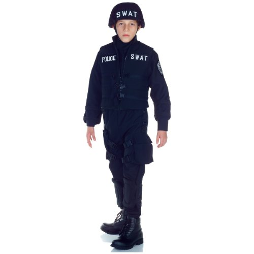 [Underwraps Swat Police Kids Costume] (Swat Costumes Kid)