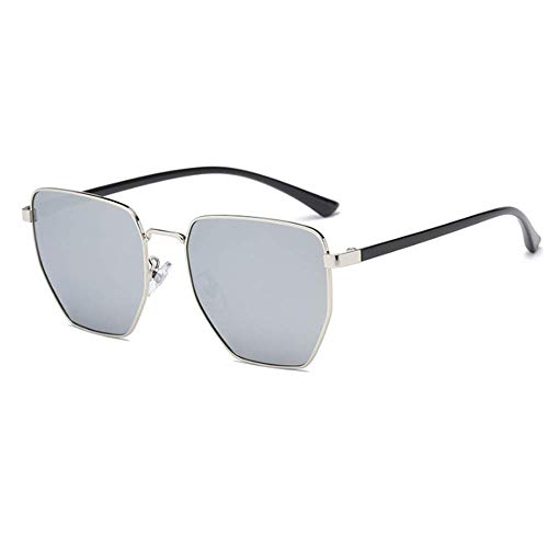 Unisex Protective Ladies Hombre Gris Gafas Sol Polarizado protección Negro Color para poligonales Sumferkyh de Style UV de 100 RXwFA