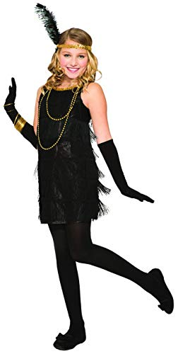 Forum Novelties Flapper Child Costume, Black,