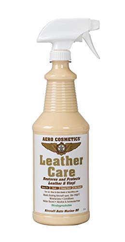 Leather Care Conditioner, UV Protectant, Aircraft Grade Leather Care, Better Than Automotive Products. Excellent for Furniture, car Seats & RV 's, Does not Leave Dirt attracting Residue, 32oz