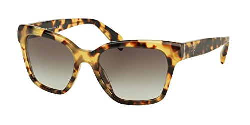 Prada PR11SSF Sunglasses 7S00A7-56 - Medium Havana Frame, Grey Gradient - Sunglasses Price Prada