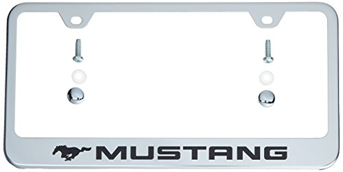 Auto Gold LFMUSEC Mustang Engrvd Chr Frame