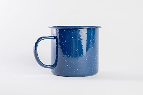 - Enamel Mug - Outdoor Camping Mugs - Ideal For Early Morning Coffee Or Cold Beverages- Coffee Mug- 16 Oz (Navy)