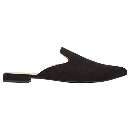 Rohb by Joyce Azria Maison Pointed Toe Flat Slip On Mule (Black) Size 9.5