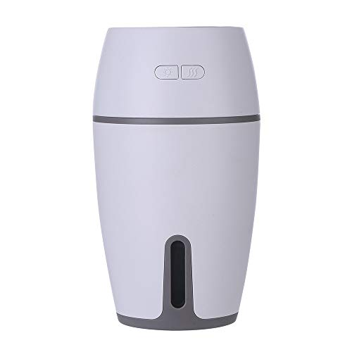 Tioland Humidifier Mini Cute Night Light Home Office Car Steam LED Humidifier Air Diffuser Purifier Atomizer (White)