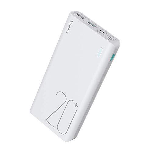 ROMOSS Powerbank 20000mAh met LED Display, 2 USB Externe Oplader externe oplader voor iPhone, iPad, Samsung, Digitale…