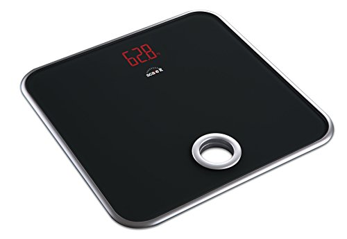 (Scaleit Digital Bathroom Scale - Bright LED Display - Hang-able - Tempered Glass - 400 LB Capacity)
