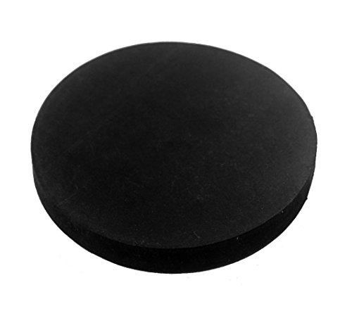 Herco Black Neoprene Rubber Vibration Pad Bumper Gasket (3/16' Thk. x 2-1/8' Dia.) - 4 pcs
