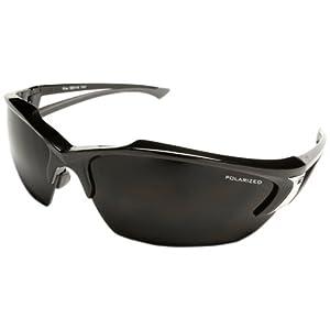 Edge Eyewear TSDK216 Khor Safety Glasses, Black with Polarized Smoke Lens