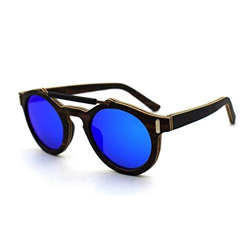 Blue Uv400 Bois Artisanat Yy4 adulte Lentille Soleil Unisexe Protection Lunettes De Kervinfendriyun Personnalité Colorée aqT1UwO