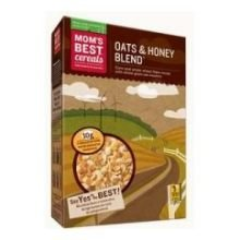 Moms Naturals Oats and Honey Blend Cereal, 46 Ounce -- 4 per case.