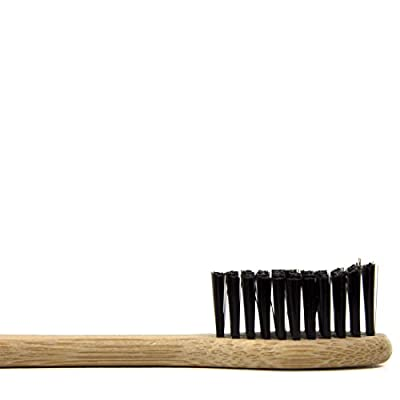 NV Eco-friendly Natural Charcoal Bamboo Toothbrush 100% Organic and Biodegradable, Soft BPA Free Bristles for Kids and Adults- 4 pack
