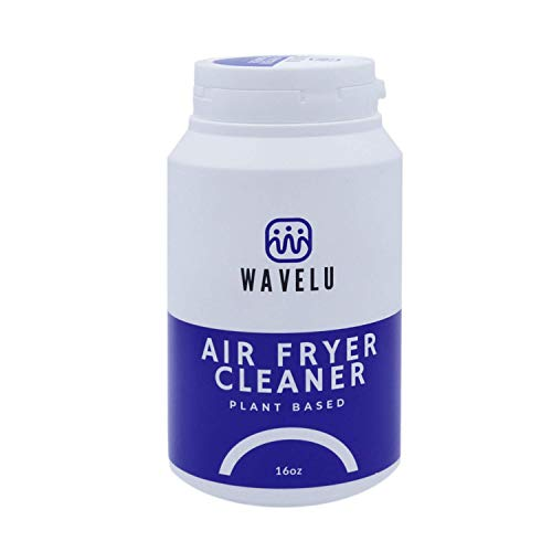 WaveLu Air Fryer Easy Cleaner - No More Hard Scrubbing, Let It Clean for You | Plant Based Nontoxic & Kid's Safe Airfryer Oven Degreaser Foaming Powder | Smell & Odor Eliminator Grease Remover - 16 oz