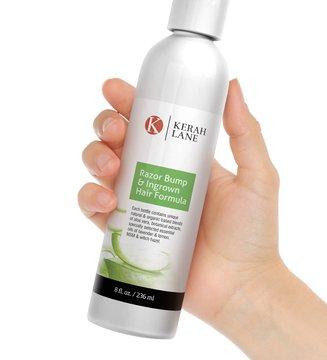 Kerah Lane Organic Razor Bump & Ingrown Hair Formula 8 Oz for Women & Men: Best Treatment Serum for Ingrown Hairs, Acne, Razor Bumps, Razor Burn: Use After ...
