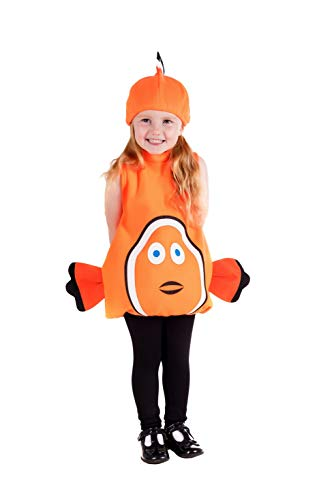 fun shack Toddlers Clown Fish Costume Kids Unisex Cute Sea Animal Tunic Outfit - 1-2 Years, Small]()