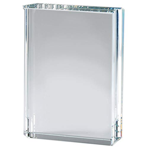 - Awards and Gifts R Us Customizable 6 Inch Optical Crystal Closed Book Award, Includes Personalization