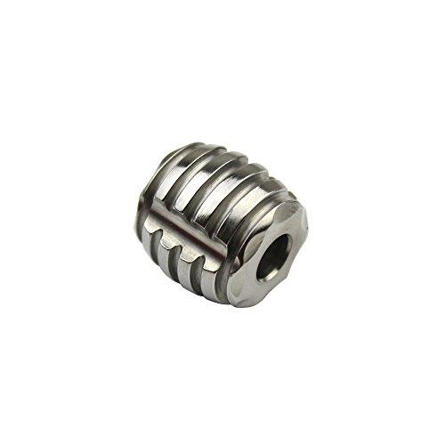 Dagger Pendant Charm (TI-EDC Titanium 15mm Bead for Keychain, Dagger, Knife Lanyard - 5.5mm Hole Charm Pendant for Parachute Cord Paracord)