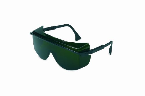 (Uvex S2509 Astrospec OTG 3001 Safety Eyewear, Black Frame, Shade 5.0 Infra-Dura Ultra-Dura Hardcoat Lens )