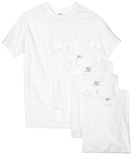 Fruit of the Loom Men's 5-Pack Crew Neck T-Shirt, White, - Undershirt The Fruit T-shirt Of Loom