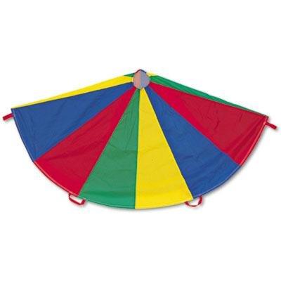 Champion Sports - Nylon Multicolor Parachute 24-Ft. Diameter 20 Handles