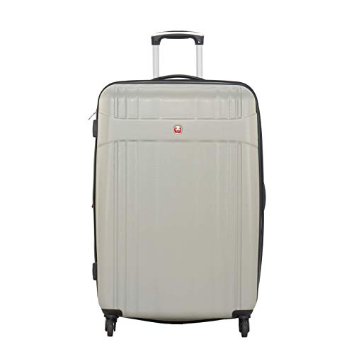 Swiss Gear Polycarbonate 28.5 Inch Spinner Expandable Silver Luggage