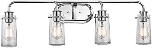 (Kichler 45460CH Braelyn 4-Light 4-Arm Bath Vanity in)
