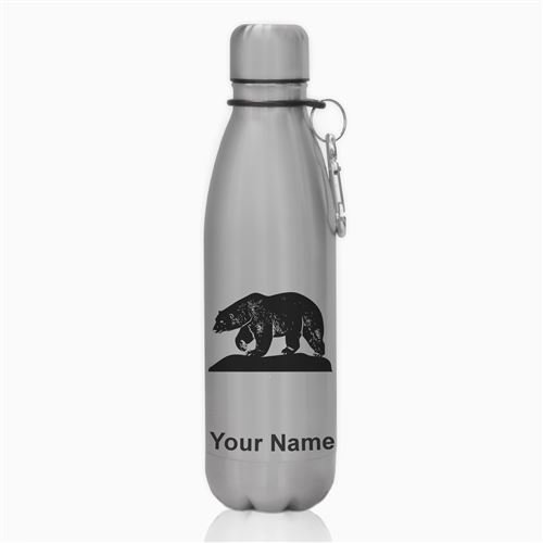 Water Bottle - Polar Bear - Personalized Engraving Included