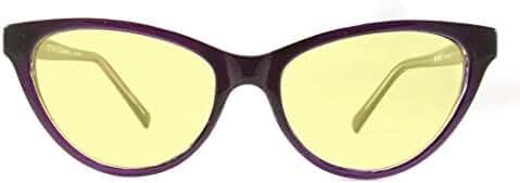 Retro Eyeworks Beverly Computer Glasses 52-17 MM (0x, Purple)