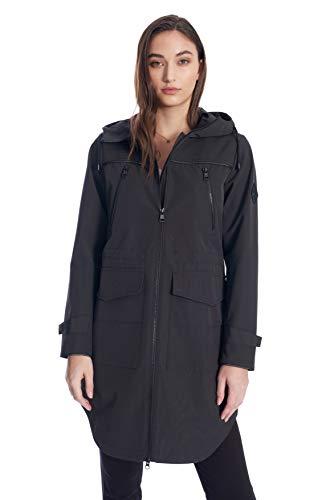 (Alpine North Women's Drawstring Raincoat (Pewter, Small))