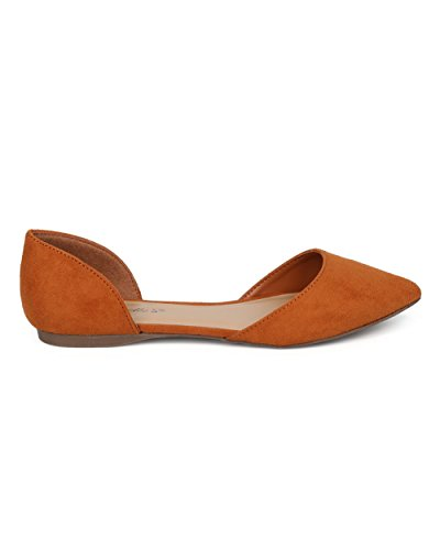 DOrsay by Casual Toe Flat Breckelles Flat Women GG19 Everyday Tan Office Pointy Ballet 8xqwRB