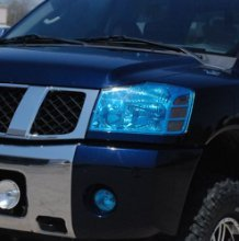 """20% DARK BLUE HEAD-LIGHT TINT COVER VINYL FILM 4' FT WRAP KIT for Headlight, tail light, Transparent Plastics, Universal, Smoke Blue Sheet, Overlay, 48 INCH X 12"""" wide roll by Tour Vinyl INCLUDES FREE INSTALL GUIDE"""
