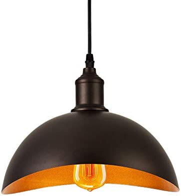 Elegant Farmhouse Pendant Lighting for Kitchen Island Over Sink Table Metal Shade with 71 Plenty Cord,Oil Rubbed Bronze,YC-P0021M,1-Pack