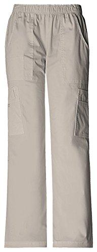 - Cherokee Women's Mid Rise Pull-On Pant Cargo Pant_Khaki_Large,4005