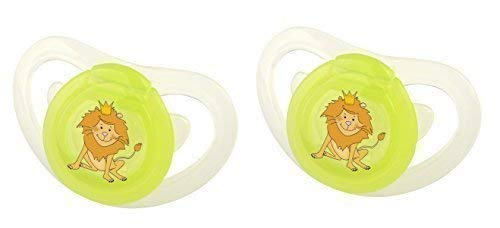 2X Okt Kids Silicona Chupete con Regulable Anillo 6+ Hippo ...
