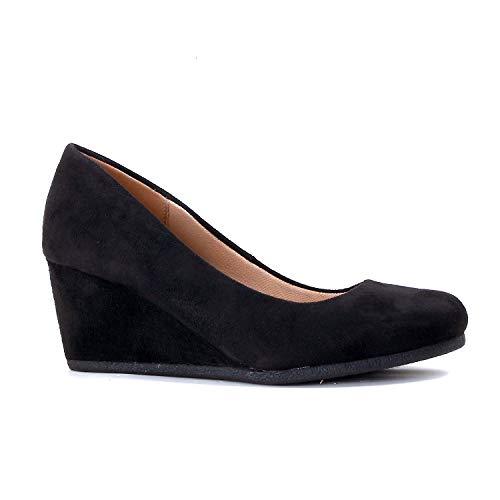 2154851c17b SHOPUS   Guilty Shoes - Patricia-02 Black Suede, 8
