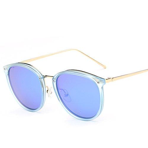 VeBrellen Plastic Frame Unisex Sunglasses Polarized TAC Mirrored Colorful Lens Driving Glasses UV400 (Blue Frame With Ice Blue Lens, - Frames Plastic Men For