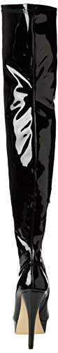 LADIES WOMENS SEXY STILLETO STRETCHY OVER THE KNEE STRETCH WIDE FIT BLACK THIGH HIGH BOOTS SIZE Black Patent fbdZMjMb