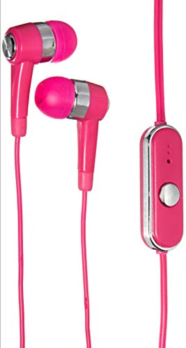 Travelocity Universal Stereo Handsfree Earbuds - Pink