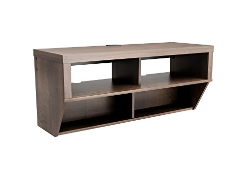 """Espresso 42"""" Wide Wall Mounted AV Console - Series 9 Designer Collection - Designed for use with flat panel plasma/LCD TVs up to 50 lbs. Two upper compartments for audio/video components Two lower components for DVDs and Blu-ray discs - tv-stands, living-room-furniture, living-room - 311lym3aFWL -"""