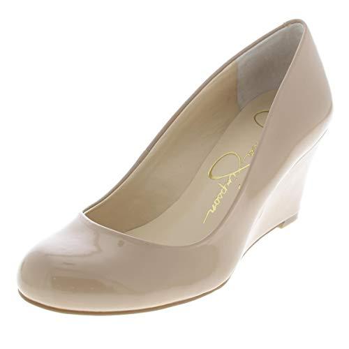 Jessica Simpson Women's Sampson Round Toe Wedge Heels Pumps Beige Size 4