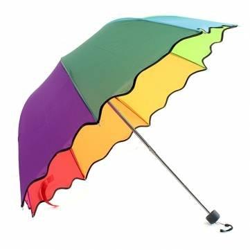 kyz kuv bouffantes Dôme Parasol pliant parapluie–Arc-en-ciel