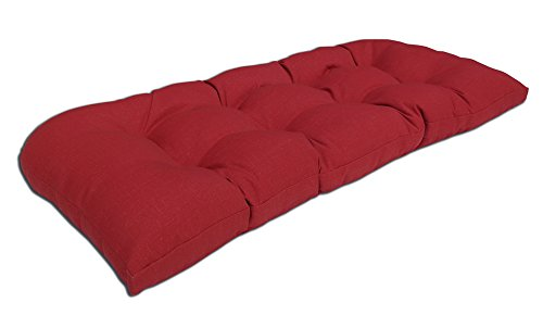 Bossima Indoor/Outdoor Rust Red Bench & Loveseat Cushion,Spr