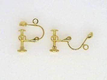10pcs Silver Plated Brass Clip-On Earring Findings Earwire Non-Pierced 17x13.5mm