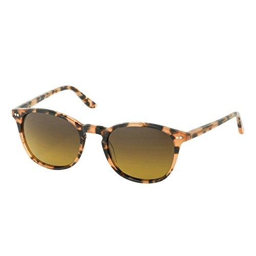 Eagle Eyes Celeste Women's Sunglasses - Peach Tortoise Round Polarized Sunglasses