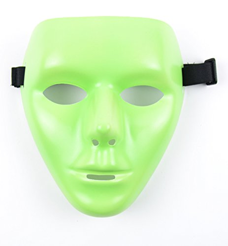Mask-It Plastic Glow-in-The-Dark Mask, 7.5-Inch, Green (Diy Halloween Costumes For Groups)