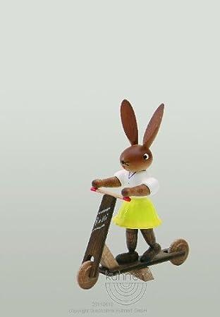 Conejo Chica en patinete: Amazon.es: Hogar