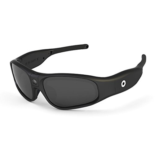 Camera Glasses Video Recording Sport Sunglasses DVR Eyewear (Tilt Lens, Polarized/Impact Resistant, WiFi/App) (No Mem) (Clear 2.2 Mm Lens)