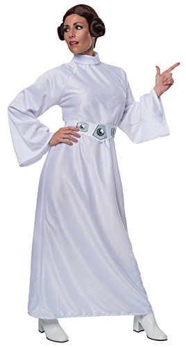 [Rubie's Star Wars A New Hope Deluxe Princess Leia Costume,White,One Size] (Costume Princess Leia Star Wars)