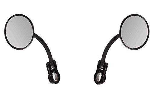 SET! ENDURO Spiegel Lenkerspiegel rechts + links Klappspiegel für rechte Seite UND linke Seite schwarz passend für Motorrad Quad