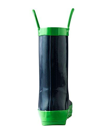 Oakiwear Children's Waterproof Rubber Rain Boots with Easy-On Handles, 12 Navy Blue by Oakiwear (Image #4)